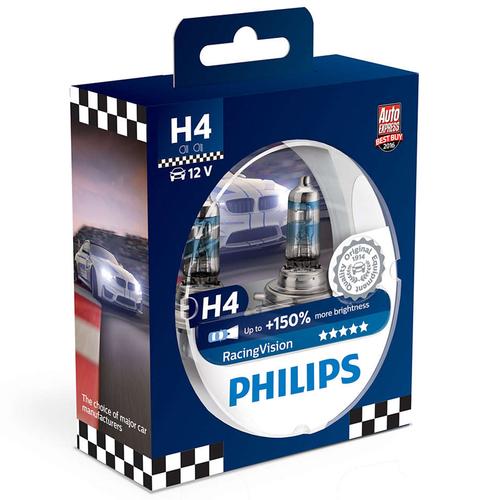 Philips RacingVision H4-polttimopari +150%