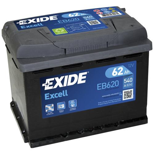 Exide EB620 akku 62 Ah 540 A