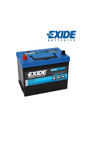 Exide Dual ER350 80Ah/510A akku P270xL175xK225