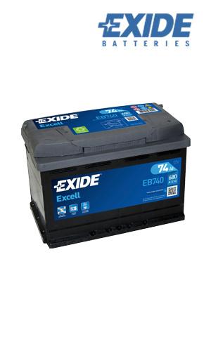 Exide EB740 74Ah/680A akku